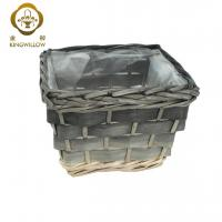 Buy cheap KINGWILLOW,Garden flower vase natural wooden basket woven from wholesalers