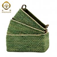 Buy cheap KINGWILLOW,Baskets Woven Maize Storage Bins Set of 3 from wholesalers