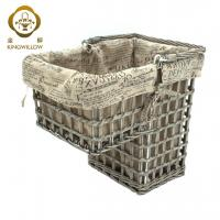 Buy cheap KINGWILLOW,Wicker Stair basket storage basket with handle from wholesalers