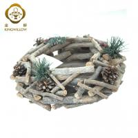 Buy cheap KINGWILLOW,wooden garden basket for plant home decrorate from wholesalers