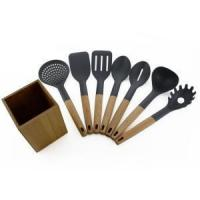 7PCS Cooking Nylon Utensils With Kitchen Holder Manufactures