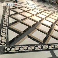 China Lobby waterjet medallion natural marble inlay flooring on sale