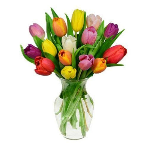 Quality 15 Rainbow Tulips Bouquet for sale