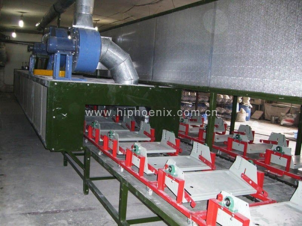 China Swing Tray Type Semi-auto Casting and Drying Line