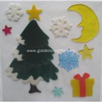 China Christmas Gifts Decoration TPR Window Gel Sticker on sale