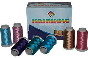Quality DYED VISCOSE YARN Rainbow Embroidery Threads for sale