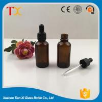 Buy cheap Cosmetic bottles 30ml Glass Dropper Bottles with Black Dropper Caps from wholesalers