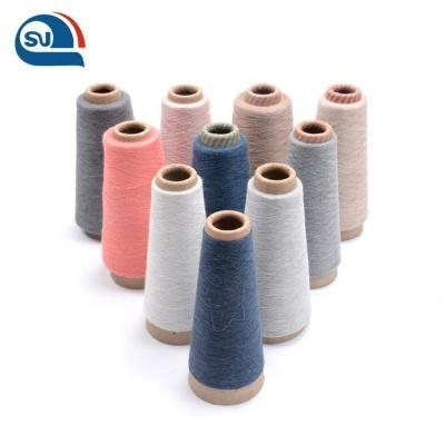 Quality Manufacturers Cotton Polyester Spun Grey And Colorful Melange Yarn for Knitting for sale