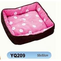 Dog Cages Name:YQ209 Soft Fabric Classic Design Dog Bed Manufactures