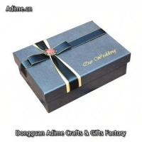 luxury custom jewelry ribbon packaging box with foil Embossed Paper logo Manufactures