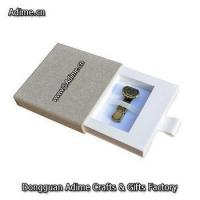 Custom Fabric Linen Cloth Drawer USB Pen Flash Drive Packaging Gift Box Manufactures
