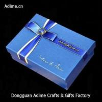 manufacturer luxury art touch paper ribbon jewelry gift lid box with logo Manufactures