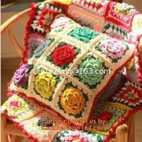 China Crochet Pillow, Cushion Covers, Knitted pillow accessories on sale