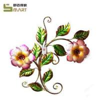 Iron Wall Hanging Outdoor metal double flower garden wall hanging Manufactures