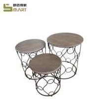 Metal Furniture Wooden leisure round outdoor furniture suites Manufactures