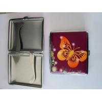 China Metal cigarette case butterfly design with stone novely design on sale