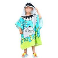 Personalized kids cartoon hooded beach bath poncho microfiber towels Manufactures