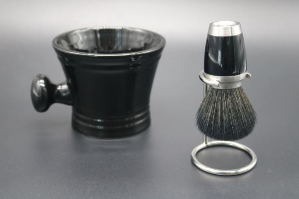 Quality Synthetic Shaving Brushes with Shaving Mug for sale