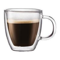 China Glass Drinkware Type and Stocked Feature Double Walled Glass Espresso Cup on sale