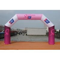 Tent Products inflatable event arch with velcro banner on leg Manufactures