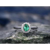 China Engagement Rings emerald-wedding-ring-015A on sale