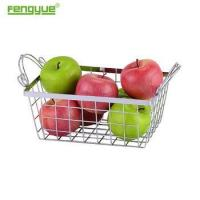 China Kitchen Storage metal Wire Chrome Plated Fruit Basket on sale