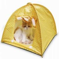 China TENT PRODUCTS New Portable Home Safe Camp Bed Waterproof Dog Cat Pop Up Pet Tent on sale