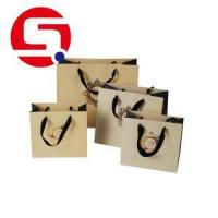 Custom brown paper bags with handles wholesale Manufactures