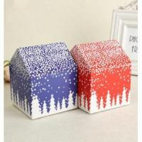 Custom Mini Unique Paper Christmas House Gift Box Manufactures