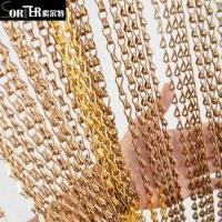China Wholesale No Clean Silver Aluminum Metal Chain Curtain For Hotel on sale