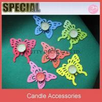 China Felt butterfly shaped tealight candle holder,candle mat on sale