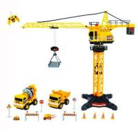 Radio Control Radio control construction tower crane (8ch) with mini trucks and accessaries Manufactures
