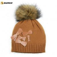 China Baby Girl Winter Hat with Bow on sale