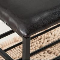 Iron Leather 3-Layers Shoe Rack Foot Rest Footstool Manufactures