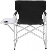 China Portable Aluminum Folding Director Chair with Side Table Outdoor Camping Fishing on sale