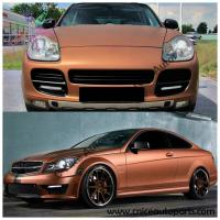 China CSM-08 Orange Matte Metallic Car Wrap Vinyl Film on sale