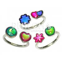 China Color Change Kid's Paired Ring; Cute designs mood ring especially for children which change on sale