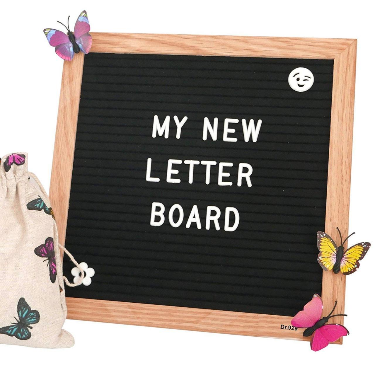 China Wooden Chalkboard and Crafts Felt Letter Board Gray with St on sale
