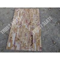 Buy cheap Cheap Pricing Rainbow Sandstone Nature Stone Ledger Stone Siding For Fireplace Surround from wholesalers