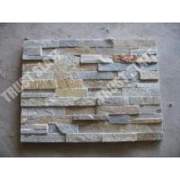 Buy cheap Stone Panels Golden Quartzite Classic Ledger Stone Panels For Fireplace Stone from wholesalers