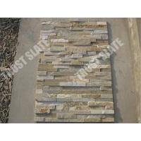 Buy cheap Culture Stone Veneer Gold Quartzite Walling Stone from wholesalers
