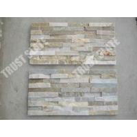 Buy cheap Cultural Quartzite Stone Veneer Golden Beige Quartzite Stone Wall Cladding from wholesalers