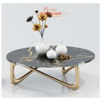 Bespoke golden stainless steel centre flower table with granite top Manufactures