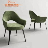 China New Design Hotel Dining Chair In High Quality Green Velvet Upholstery on sale