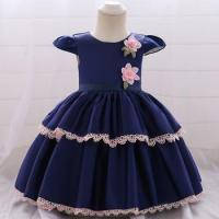 Low Moq Baby Cake Dress Children Frock Design Girl Flower Party Wear L1872XZ