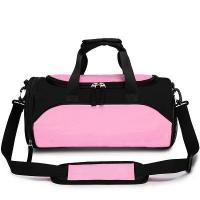 Pink & Black Fashion Polyester Sports Bag