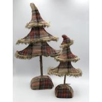 cream+ red+blue plaid lint tree (two size)