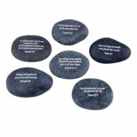 Quality Engraved Inspirational Stones (Different Words) from the Holy Land AP59 for sale