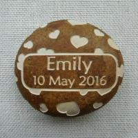 Quality Custom Engraved Name Pebble, Personalised Name Rock Gift for New Baby, Christening, Boy & Girl AP30 for sale