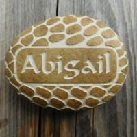 Quality Custom Name Pebble, Personalised Engraved Stone Gift for New Baby, Christening, Boy & Girl AP31 for sale